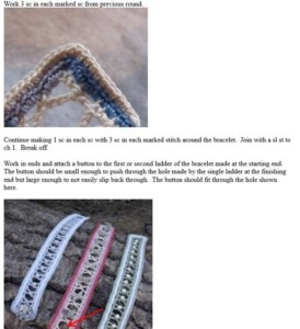 Crochet Jewelry - Beads and Ladders Bracelet