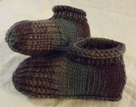 Knitted Slipper Just Like Granny Made
