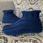 Hand Made Knitted Adult Cuffed Slippers – FREE Shipping to USA!