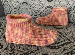 Knitted Slippers Just Like Granny Made Knitting Pattern