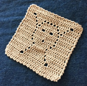 crochet skull dishcloth
