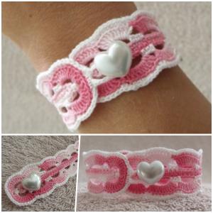 crochet waves bracelet pattern