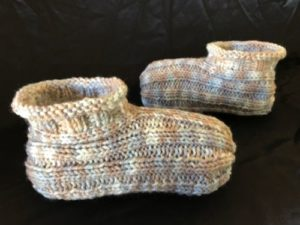 Knitted Adult Bootie Slippers Pattern