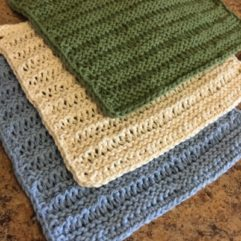free Knitting Pattern - Lacey Dishcloth