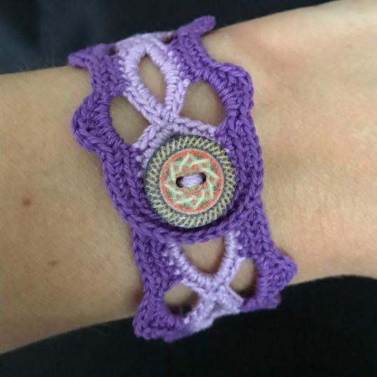 2 tone purple bracelet