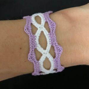 Hippie boho crocheted bracelet