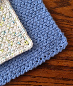 How to crochet a dishcloth