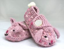 knitted bunny slippers