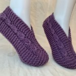 CUSTOM MADE Hand Knit Bow Slippers – FREE Shipping!