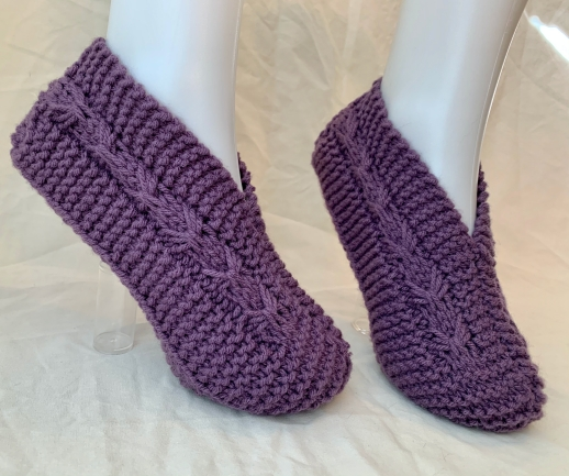 Hand Knit Bow Slippers