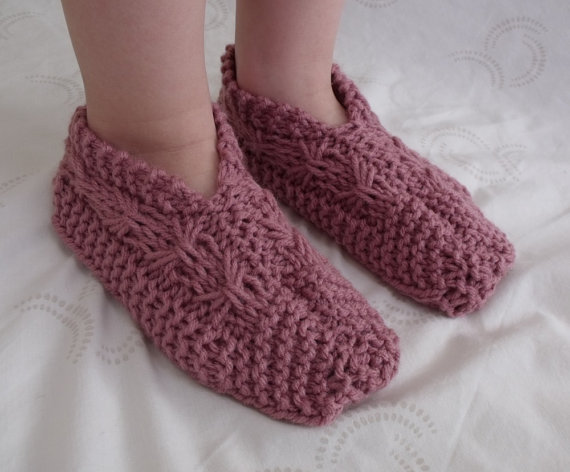 Knitting pattern for kids - Slippers