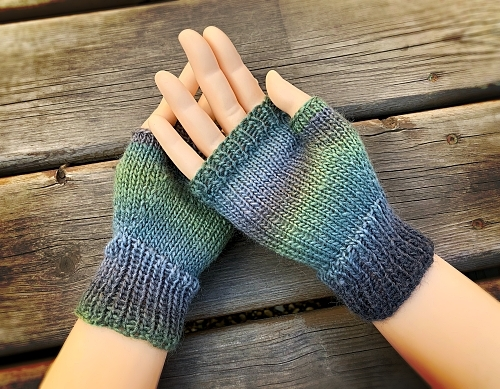 how to knit fingerless mitts