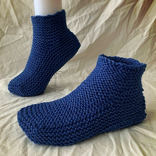 Moccasin Slippers with a Cuff - Knitting Pattern ...